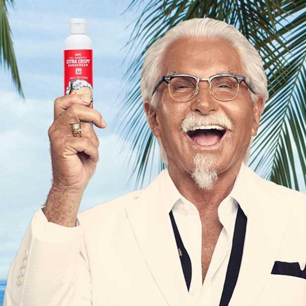 Met de zonnebrandcrème van KFC ruik je naar gefrituurde kip