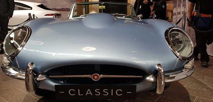 Jaguar's E-type Zero is retro-cool, maar wel op elektriciteit