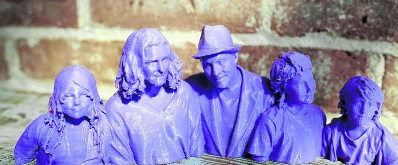 Het nieuwe familieportret, een 3D geprinte selfie!