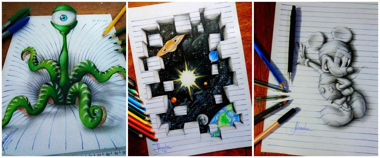 16-jarige kunstenaar maakt de meest spectaculaire 3D-tekeningen!