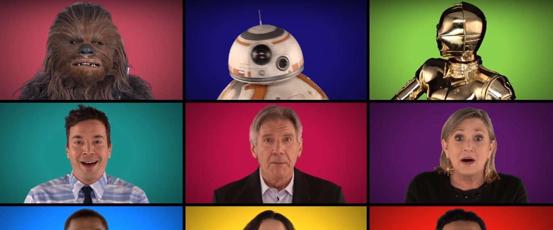 Star Wars a capella medley met Jimmy Fallon en Star Wars cast