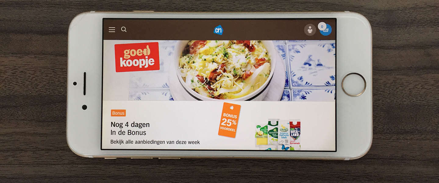Albert Heijn scoort in Nederland​ het best met mobile commerce
