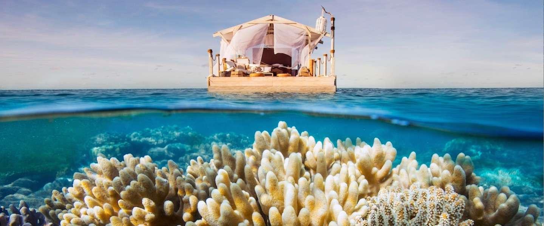 Slapen in een droomhuisje midden in het Great Barrier Reef
