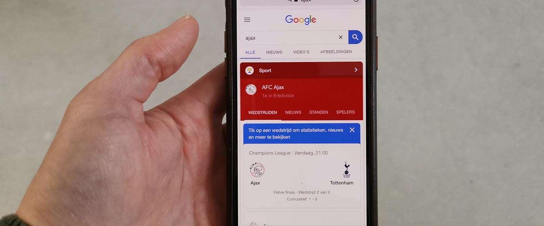 Succes in de Champions League; niet eerder was Ajax online zo populair