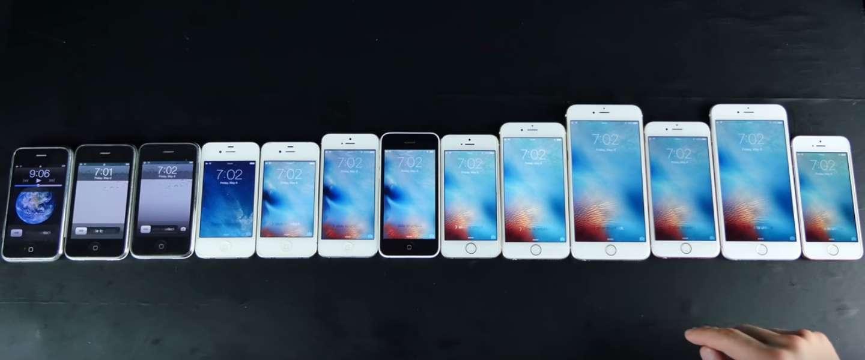Dit zijn alle iPhones op een rijtje tot nu toe