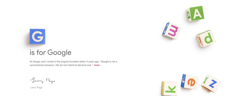 Google splitst op in twee bedrijven en gaat verder onder de naam Alphabet