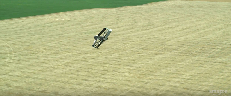 Amazon wil pakjes bezorgen met een mini-helikopter-vliegtuig