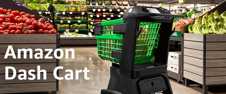 Amazons supermarkt krijgt high tech winkelkarretjes