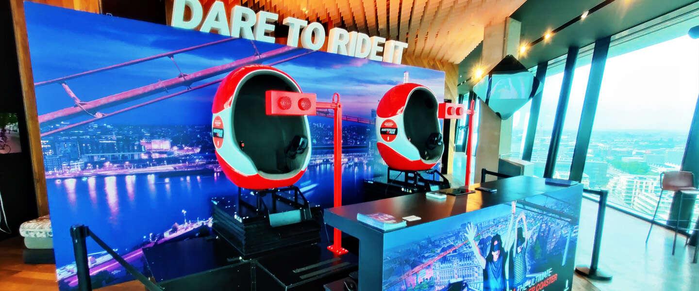 Amsterdam VR Ride is een rollercoaster - en zo voelt het ook