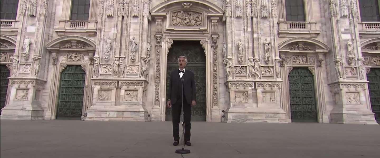 Andrea Bocelli's indrukwekkende Music For Hope is trending op YouTube