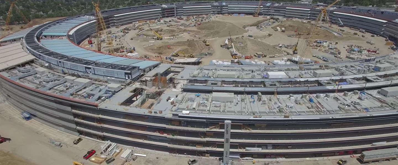 Apple Campus 2 update: weer nieuwe drone beelden