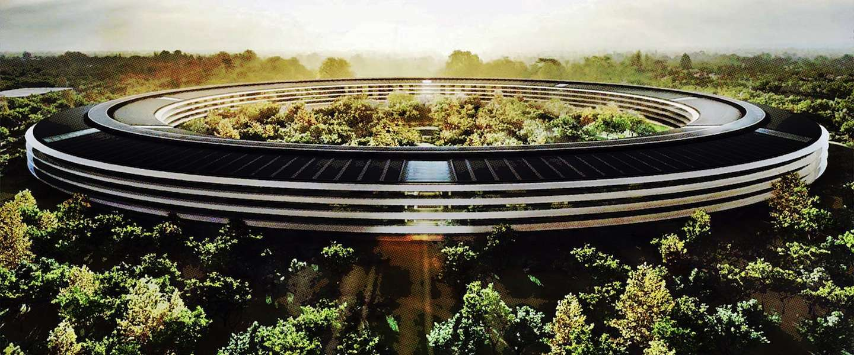 Nieuwe beelden opgedoken van de Apple Campus 2