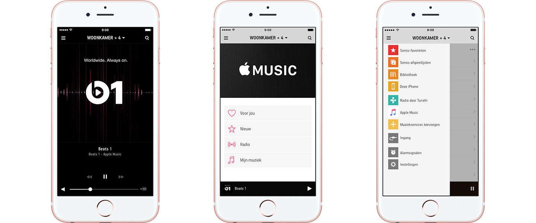 Apple Music nu beschikbaar op alle Sonos-systemen