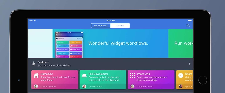 Apple neemt Workflow over