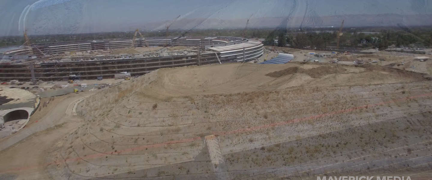 De bouw van Apple Park in zes minuten en 4K (video)