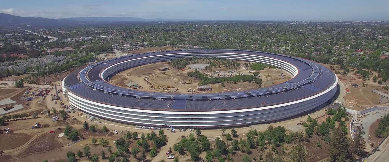 Weer een nieuwe Apple Park drone video