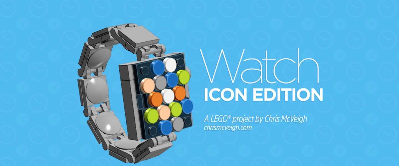 Zo maak je je eigen Apple Watch van Lego