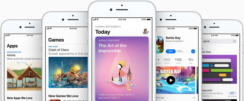 Recordomzet voor Apple App Store rond de feestdagen