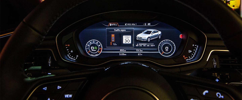 Audi technologie die bestuurders helpt rode lichten te vermijden