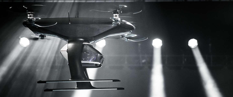 Audi's vliegende taxi getest in Amsterdam
