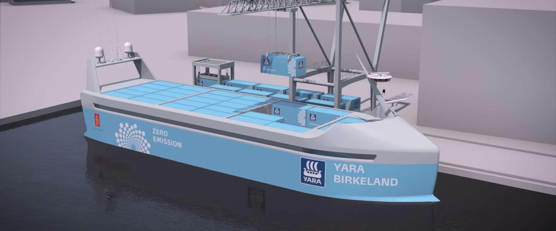 's Werelds eerste autonome schip gaat volgend jaar varen
