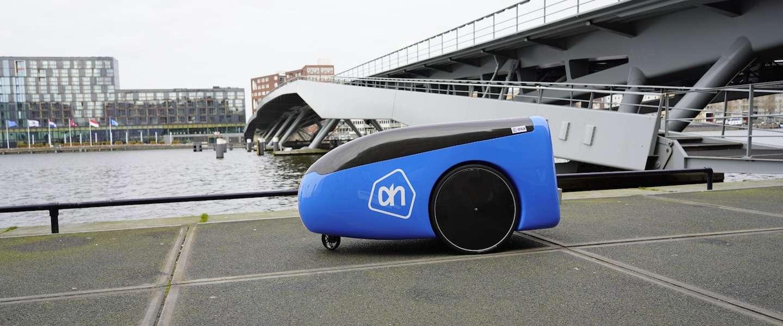 Albert Heijn laat bezorgrobot rijden op High Tech Campus in Eindhoven