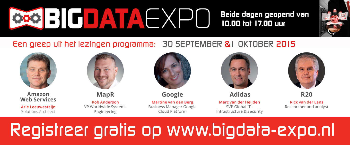 Topsprekers tijdens de Big Data Expo in de Jaarbeurs Utrecht