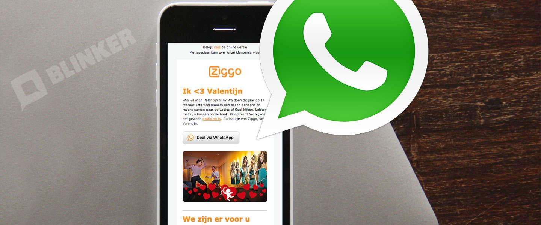 E-mail marketing: hoe deel je artikelen via WhatsApp?