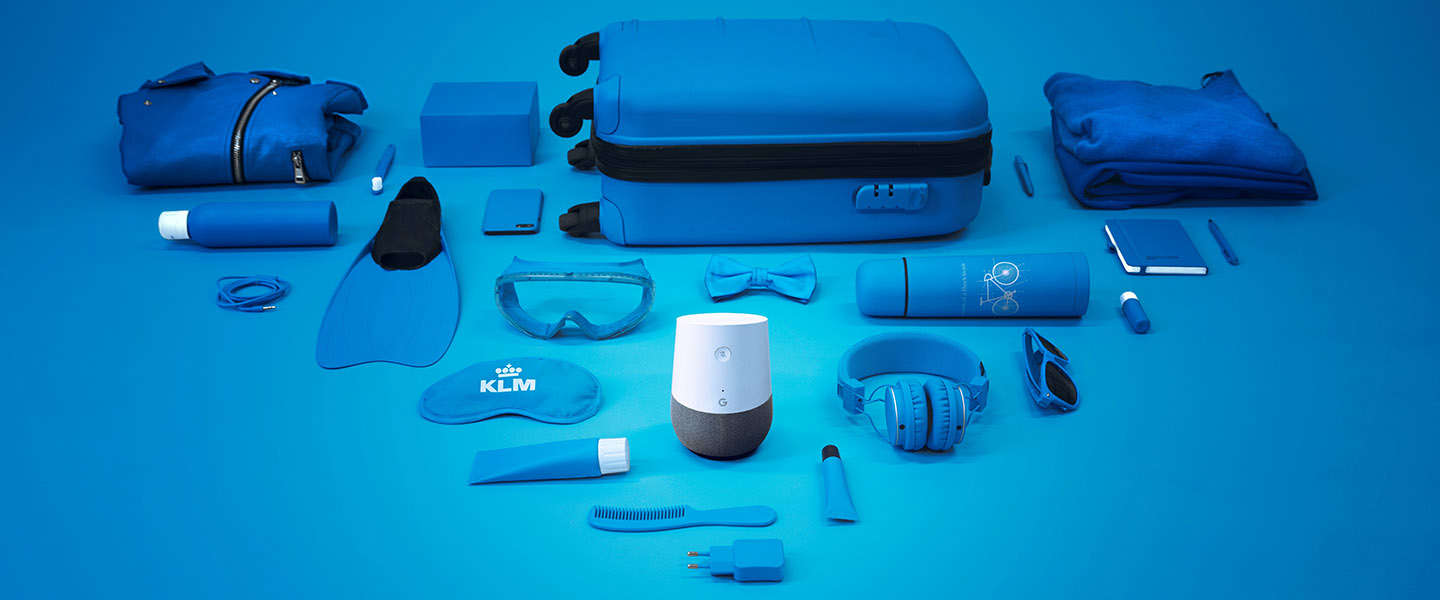 KLM Blue Bot helpt je inpakken via Google Home
