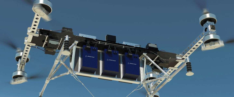 Boeing wil grote drones maken die tot 225 kilo kunnen vervoeren