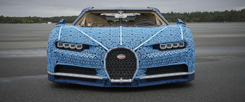 Bugatti Chiron van in totaal meer dan 1 miljoen LEGO Technic onderdelen