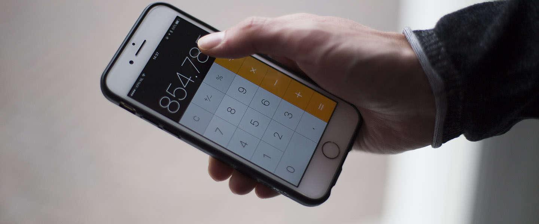 Dat je dit niet eerder wist: swipen in de calculator app op iOS