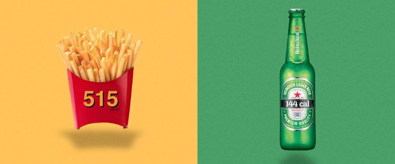 Calorie Brands: logo's van bekende merken getransformeerd tot calorie-aantal