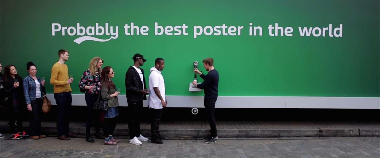 Dit is 's werelds beste billboard bedacht door Carlsberg