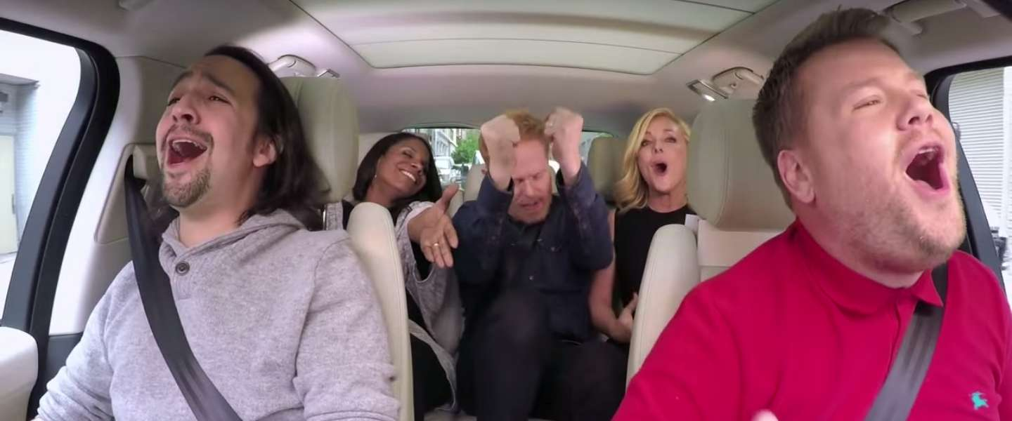 Nieuwe Carpool Karaoke: Broadway hits