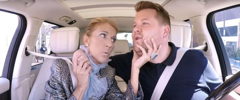 Our heart will go on voor de nieuwe Carpool Karaoke met Celine Dion