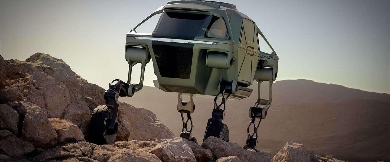 Dit Walking Car Concept lijkt op een AT-AT Walker uit Star Wars