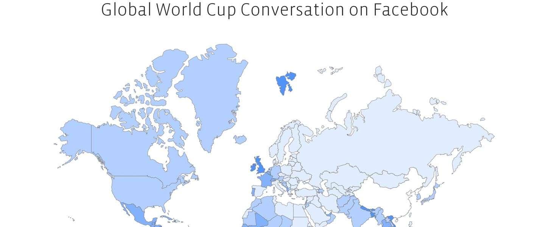 Facebook stats over het WK voetbal; 3 miljard interacties