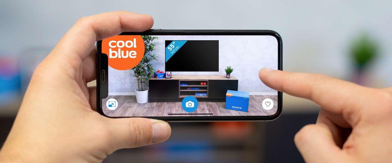 Coolblue laat klanten met augmented reality tv's in huis bekijken