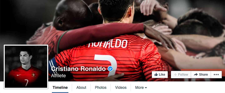 Cristiano Ronaldo eerste sporter op Facebook met meer dan 100 miljoen likes [INFOGRAPHIC]