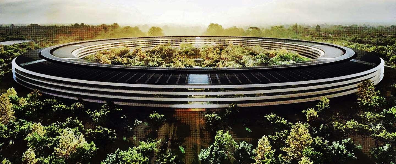 """Apple's nieuwe campus van 5 miljard wordt het """"groenste"""" gebouw op aarde"""