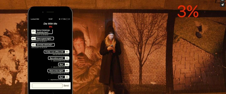 De 'Die with me'-app werkt alleen als je batterij bijna leeg is