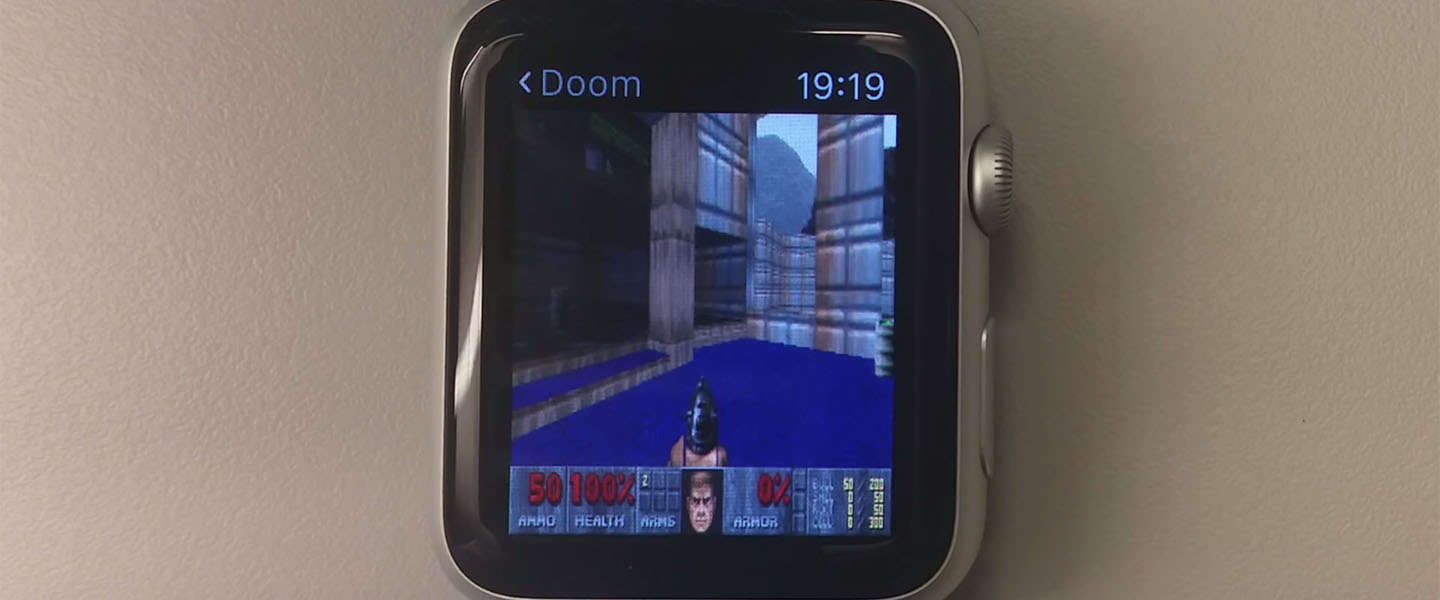 Doom spelen op de Apple Watch