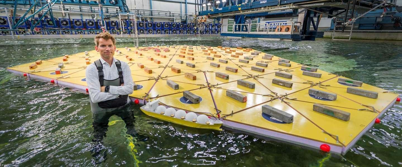 Drijvend eiland-concept wordt nu getest door Nederlands instituut