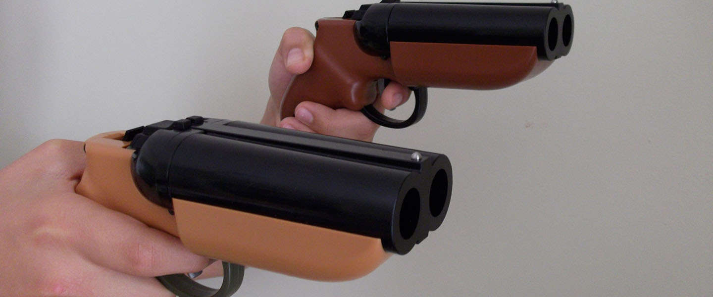 Must have: Een dubbelloops Paintball pistool