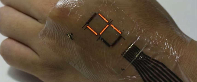 E-skin: een beeldschermpje op je huid