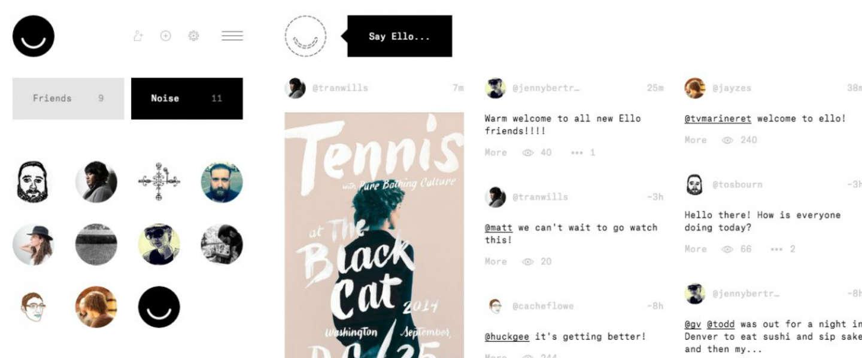 Ello, een nieuw snel groeiend en invite-only social network