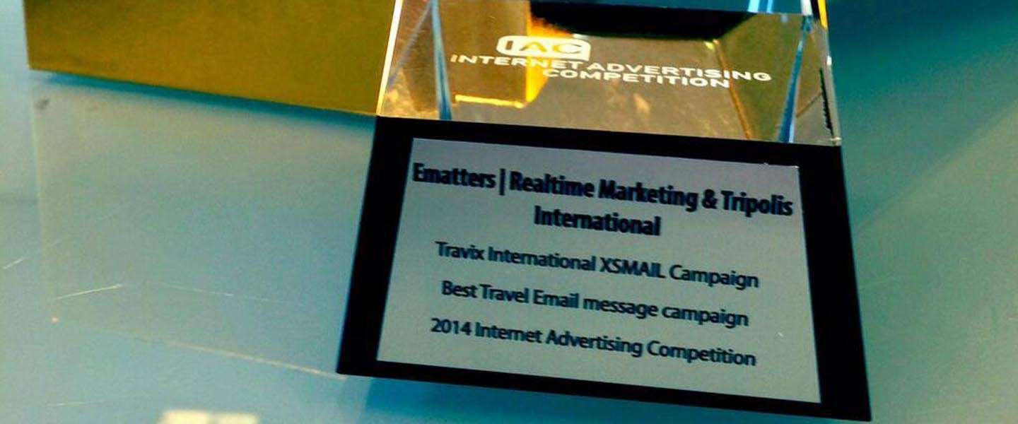 Ematters wint IAC Award voor Best Travel Email Message Campaign