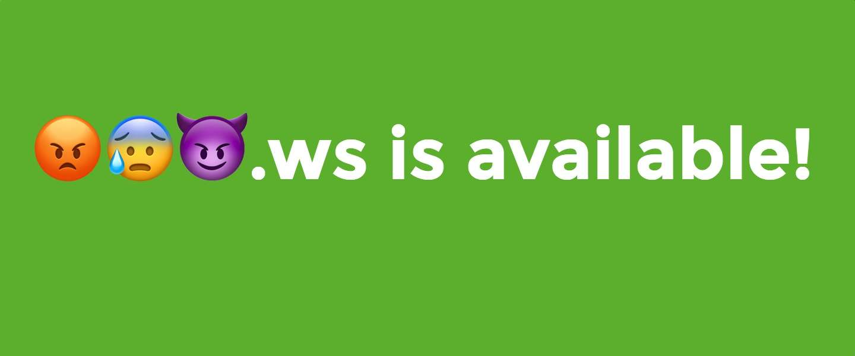 Je kunt nu ook emoji-domeinen kopen