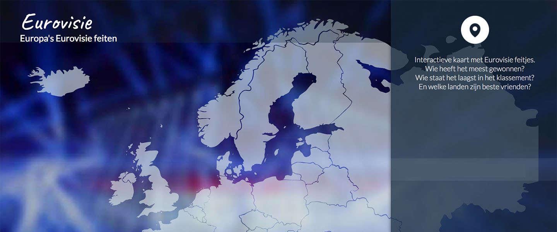 Een interactieve map over het Eurovisie Songfestival